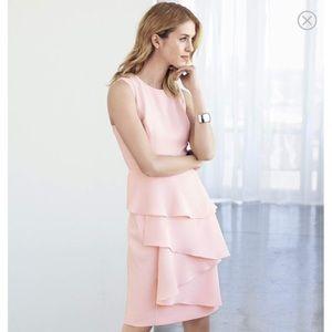 Eliza j cascade crepe sheath dress